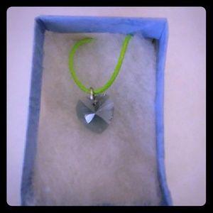 Jewelry - Spearmint Blue Crystal Heart Necklace
